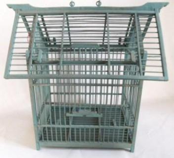 WOHNAMBIENTE Vogelkäfig Art.-Nr.: K 231 Maße: 40 x 36 x 26, 5 cm (BxHxT).