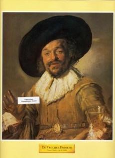 WOHNAMBIENTE Art.-Nr.: ST 87 Druck nach einem Gemälde von Franz Hals (1579/85 - 1666) aus Art & Decor, Serie 603. Blattgröße 25, 3 x 30, 5, Bildgröße 20, 7 x 23, 7 cm.