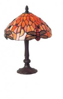 WOHNAMBIENTE Tiffany-Lampe, Tischlampe Art.-Nr.: LT 507 + P 933 M Schirm d= 25 cm, Leuchtenhöhe 42 cm, Fassung 1 x E14.
