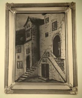 Wohnambiente Runkel Fensterbild Burg Runkel - Treppenaufgang