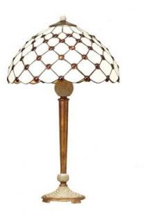 WOHNAMBIENTE Tiffany Tischlampe Art.-Nr.: LT 16668 + LPT 5405-1 A Schirm d= 40 cm, Leuchtenhöhe 66 cm, Fassung 1 x E27