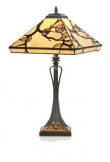 WOHNAMBIENTE Tiffany Tischlampe Art.-Nr.: T 14209 + P 10273 Maße: d = 36 cm, Leuchtenhöhe 61 cm, Fassung 2 x E27.