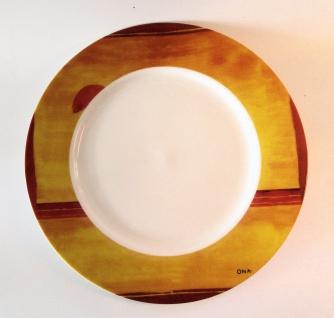 """WOHNAMBIENTE Porzellan, Geschirr Art.-Nr.: O 116 Speiseteller """"Flanerie"""" von Ona Maße: d= 27 cm."""