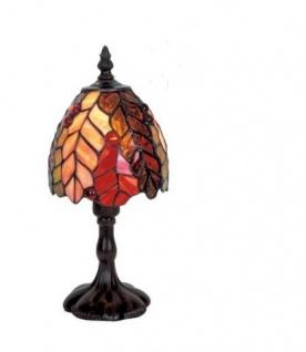 WOHNAMBIENTE Tiffany Tischlampe Art.-Nr.: DT 12 + P 921 z. Zt. 3 St. lieferbar Tiffanylampe Rispi Schirm d= 14 cm, Leuchtenhöhe 28 cm, Fassung 1 x E14