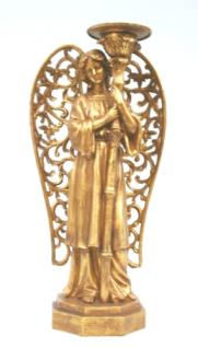 WOHNAMBIENTE Kerzenständer, Kerzenhalter Art.-Nr.: 10139 W Maße: 20 x 40 x 14 cm (BxHxT)
