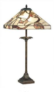 WOHNAMBIENTE Tiffany-Lampe, Tischlampe Art.-Nr.: Y 14204 + P 4840 Schirm d= 36 x 36 cm, Leuchtenhöhe 76 cm, Fassung 1 x E27.