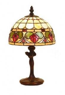 WOHNAMBIENTE Tiffany Tischlampe DT 24 + P 520 Schirm d= 20 cm, Leuchtenhöhe 34 cm, Fassung 1 x E14