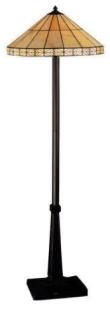 WOHNAMBIENTE Tiffany Bodenlampe Art.-Nr.: LP 537 Schirm d= 51 cm, Leuchtenhöhe 152 cm, Fassung 2 x E27