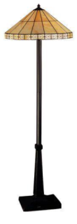 WOHNAMBIENTE Tiffany-Lampe, Bodenlampe Art.-Nr.: LP 537 Schirm d= 51 cm, Leuchtenhöhe 152 cm, Fassung 2 x E27