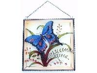 WOHNAMBIENTE Fensterbild Art.-Nr.: GBM 081 Größe 26 x 26 cm, handgemalt.