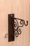WOHNAMBIENTE Wandhaken Art.-Nr.: 16360 Maße: Montageplatte 5 x 20 cm, Gesamthöhe 20 cm, Ausladung 21 cm.