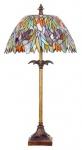 WOHNAMBIENTE Tiffany Tischlampe Art.-Nr.: DT 50 + P 4840 Schirm d= 38 cm, Leuchtenhöhe 74 cm, Fassung 1 x E27.