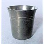 WOHNAMBIENTE Zinnbecher Art.-Nr.: 1-5166 Maße: Höhe 4, 3 cm, Durchmesser 3, 9 cm.