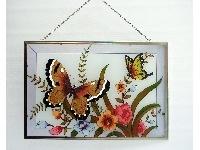 WOHNAMBIENTE Fensterbilder Art.-Nr.: GBM 181 Größe 47 x 31 cm (BxH), handgemalt.