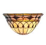 WOHNAMBIENTE Tiffany Wandlampe Art.-Nr.: SPW 12007 Schirm b= 30 cm, h= 15 cm, Fassung 1 x E27.