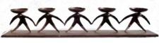WOHNAMBIENTE Kerzenständer, Kerzenhalter Art.-Nr.: F 3510 Maße: 92 x 12, 5 cm, Höhe 16 cm. Einzelstück.