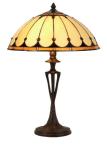 WOHNAMBIENTE Tiffany Tischlampe Art.-Nr.: TT 105 + PBLM 11 Schirm d= 40 cm, Leuchtenhöhe 59 cm, Fassung 2 x E27