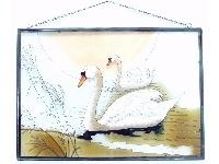 WOHNAMBIENTE Fensterbilder Art.-Nr.: GBM 037 Größe 51 x 36 cm (BxH), handgemalt.