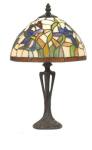 WOHNAMBIENTE Tiffany Tischlampe Art.-Nr.: Y 10392 + PBLM 11 S Schirm d= 25 cm, Leuchtenhöhe 41 cm, Fassung 1 x E27.