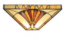 WOHNAMBIENTE Tiffany Wandlampe Art.-Nr.: LPW 10271 B Schirm 30 x 18 cm (BxT), 1 Fassung E27.