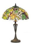WOHNAMBIENTE Tiffany Tischlampe Art.-Nr.: Y 16568 + PBLM 11 Schirm d= 40 cm, Leuchtenhöhe 59 cm, Fassung 2 x E27.