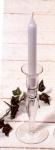 WOHNAMBIENTE Kerzenständer, Kerzenhalter Art.-Nr.: 47235 Maße: d= 5, 5 cm, h= 20 cm, Kerzentülle d innen= = 26 mm.