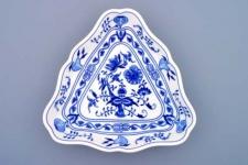 WOHNAMBIENTE Porzellan, Geschirr Art.-Nr.: CB 056, Schüssel, 3-eckig, groß Maße: Kantenlänge 24 cm, h= 4 cm,
