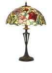 WOHNAMBIENTE Tiffany Tischlampe Art.-Nr.: YT 22 + PBLM 11 Schirm d= 40 cm, Leuchtenhöhe 59 cm, Fassung 2 x E27
