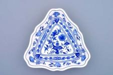 WOHNAMBIENTE Porzellan, Geschirr Art.-Nr.: CB 055, Schüssel, 3-eckig, klein Maße: Kantenlänge 19 cm, h= 3, 5 cm.