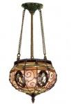 WOHNAMBIENTE Tiffany Hängelampe Art.-Nr.: MT 29 Schirm d= 25 cm, Gesamtl. der Leuchte incl. Baldachin und Schirm 127 cm, Fassung 1 x E27. Aufhängung kann gekürzt werden. Sprechen Sie uns an.