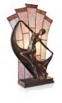 WOHNAMBIENTE Tiffany Tischlampe Art.-Nr.. NPA 18680 Maße: Breite = 27 cm, Leuchtenhöhe 48 cm, Fassung 1 x E14.