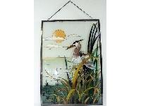 WOHNAMBIENTE Fensterbilder Art.-Nr.: GBM 001 Größe 36 x 50 cm (BxH), handgemalt.