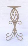 WOHNAMBIENTE Kerzenständer, Kerzenhalter Art.-Nr.: K 16 Maße: d= 10, 5 cm, h= 22 cm (incl. Kerzendorn).