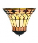 WOHNAMBIENTE Tiffany Wandlampe Art.-Nr.: LPW 10805 Schirm b= 31 cm, h= 26 cm, Fassung 1 x E27