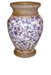 WOHNAMBIENTE Keramik-Vase Art.-Nr.: 6125 Größe: Durchmesser 18 cm, Höhe 29 cm.