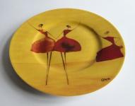"""WOHNAMBIENTE Porzellan, Geschirr Art.-Nr.: 110 Dessertteller """"Danseuse"""" von Ona Maße: d= 21, 5 cm."""
