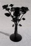 WOHNAMBIENTE Kerzenständer, Kerzenhalter Art.-Nr.: T 1110 Maße: Umfang ca, 19 cm, Höhe ca. 26 cm.