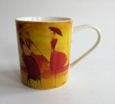 """WOHNAMBIENTE Porzellan, Geschirr Art.-Nr.: O 112 Porzellantasse """" Flanerie"""" von ONA. Maße: 9, 5 cm, d= 8 cm."""