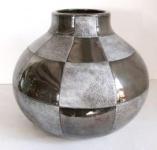WOHNAMBIENTE Keramik-Vase Art.-Nr.: K 33 Maße: d= 32 cm, Höhe 28 cm, Öffnung 10, 5 cm.
