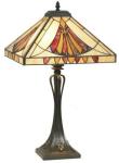 WOHNAMBIENTE Tiffany Tischlampe Art.-Nr.: LPT 10273 Schirm 36 x 36 cm, Leuchtenhöhe 62 cm, Fassung 2 x E27.