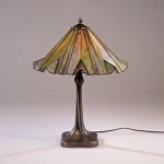 WOHNAMBIENTE Tiffany-Lampe Art.-Nr.: 80020, Schirm d= 36 cm, Lampenhöhe h= 48 cm, Fassung 1 x E27.