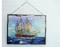 WOHNAMBIENTE Fensterbilder Art.-Nr.: GBM 183 Größe 41 x 31 cm, handgemalt.