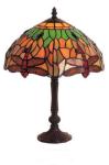 WOHNAMBIENTE Tiffany Tischlampe Art.-Nr.: LT 04 + P 933 M z. Zt. 1 St. lieferbar Schirm d= 25 cm, Leuchtenhöhe 38 cm, Fassung 1 x E14.