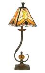 WOHNAMBIENTE Tiffany Tischlampe Art.-Nr.: YT 02 Schirm d= 23 cm, Leuchtenhöhe 71 cm, Fassung 1 x E14