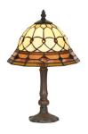 WOHNAMBIENTE Tiffany Tischlampe Art.-Nr.: SP 10007 + P 933 M Scirm d= 25 cm, Leuchtenhöhe 42 cm, Fassung 1 x E14.