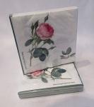 WOHNAMBIENTE Porzellan, Geschirr Art.-Nr.: 921 Maße: gefaltet in Folienpackung 16, 5 x 16, 5 cm, Im Design Redout' Roses bedruckt, Lieferung im 2er-Pack