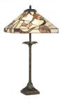 WOHNAMBIENTE Tiffany Tischlampe Art.-Nr.: Y 14204 + P 4840 Schirm d= 36 x 36 cm, Leuchtenhöhe 76 cm, Fassung 1 x E27.