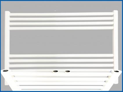 Badheizkörper SMYRNA Plus Weiß 800 x 1000 mm. Gerade mit Mittelanschluss SONDERMAß