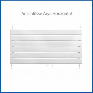 Paneel Heizkörper Badheizkörper ARYA Horizontal Weiß Breite: 1200 mm. Höhe: 604 mm. - Vorschau 4