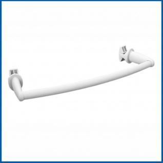 BASIC Handtuchstange für Badheizkörper Gebogen Chrom oder Weiß - Vorschau 3